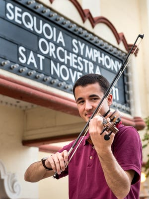 Violinist Maxton Vieira is a member of the Sequoia Symphony and teaches at Mt. Whitney High School.