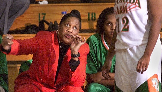 Former Florida A&M women's basketball coach Claudette Farmer gives instructions during a game. Farmer has been hired as Rickards' new athletic director.