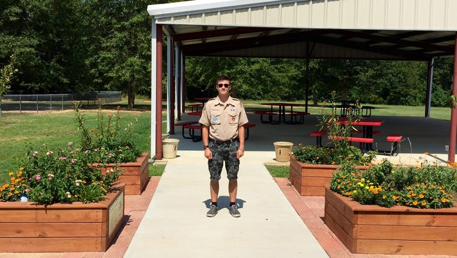 Christian Gammill built a butterfly garden at Petal Primary School for his Eagle Scout project.