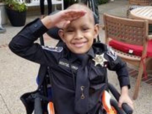 7-year-old cancer patient is DeSoto County deputy for a day