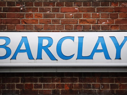 A Barclays sign outside one of the bank's London branches