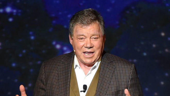 """Actor William Shatner performs during his one-man show, """"Shatner's World: We Just Live In It"""" at the MGM Grand Hotel/Casino on June 19, 2014 in Las Vegas."""