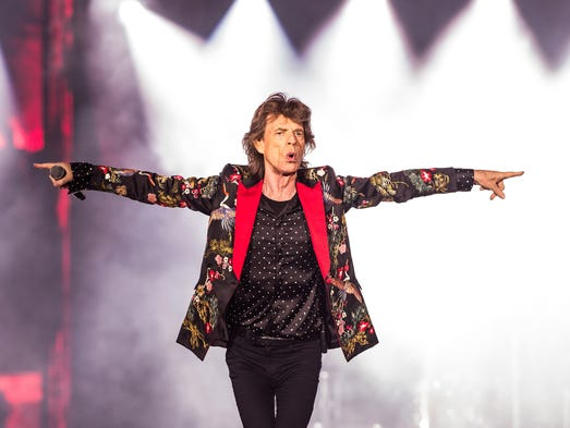Mick Jagger performs with the Rolling Stones during