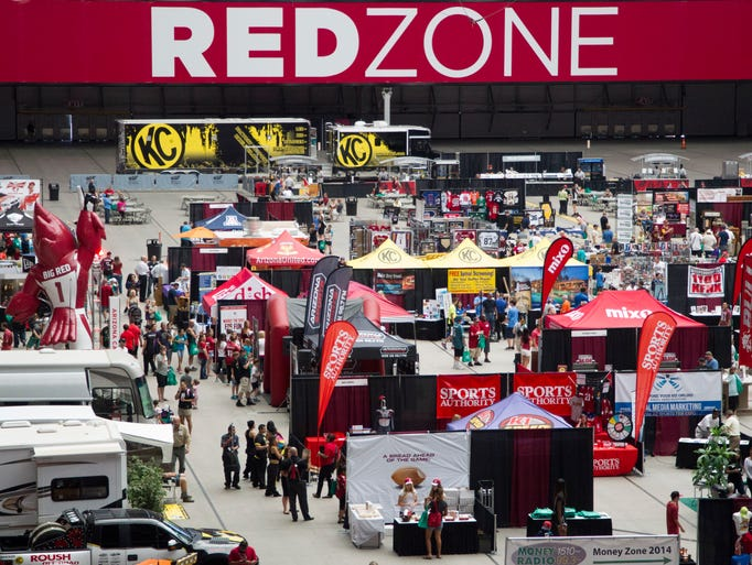 An overview of the Arizona Sports Fan Expo at University of Phoenix Stadium on Saturday, June 28, 2014.