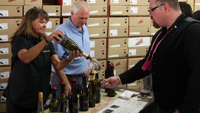 Puma Road wines were poured at Red Wing Shoe Store in Salinas