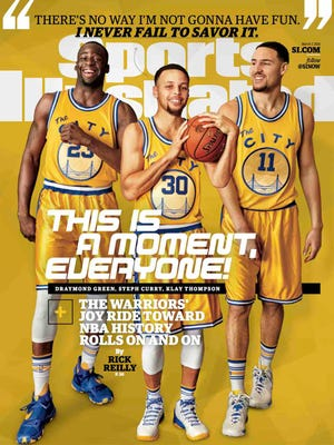 Draymond Green, left, and the Warriors are featured on the Sports Illustrated cover.