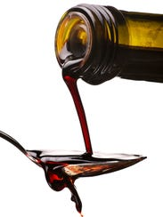 Balsamic vinegar, when simmered down to a syrup, is