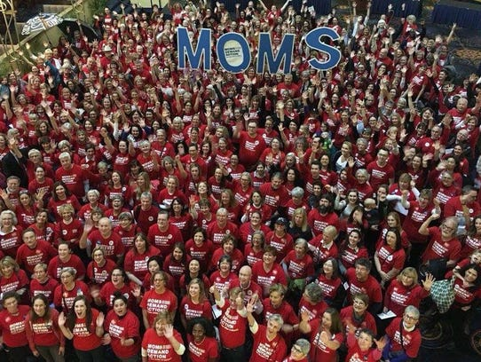 More than 400 members of Moms Demand Action converged