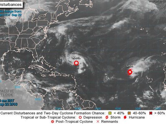 Tropical Depression Karl NOAA
