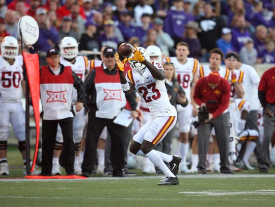 Iowa State Cyclones wide receiver Matthew Eaton (23)