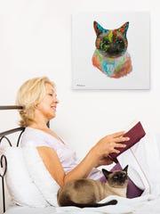 My Pooch Face offers idyllic custom pet portraits of