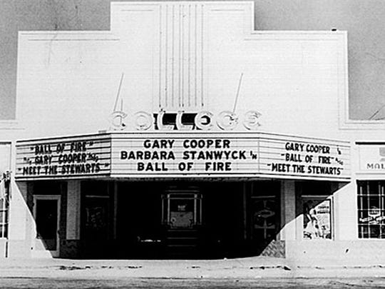 The College Theater was the second theater that Red Harkins opened in the Valley.
