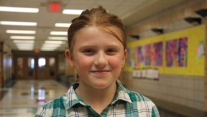 Riley Spalik is a third-grader at Johnson City Intermediate School