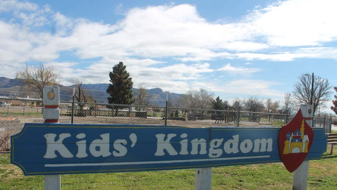 City of Alamogordo staff met with ExerPlay Inc. on Thursday to discuss plans for Kids' Kingdom., including a possible playscape, splash park and picnic area. The insurance check for $450,000 to the city arrived Tuesday, according to acting City Manager Maggie Paluch.