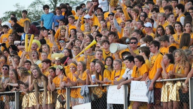 The Turpin fans arrived early to cheer on the Spartans against Anderson.