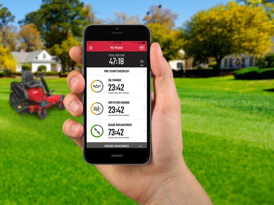 Get lawn mower diagnostics straight to your phone.