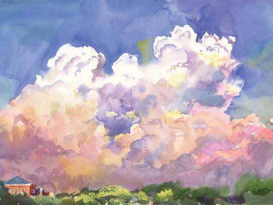 """Wyatt Waters' """"A Clouded Room"""" watercolor exhibition is Tuesday at his Clinton gallery."""