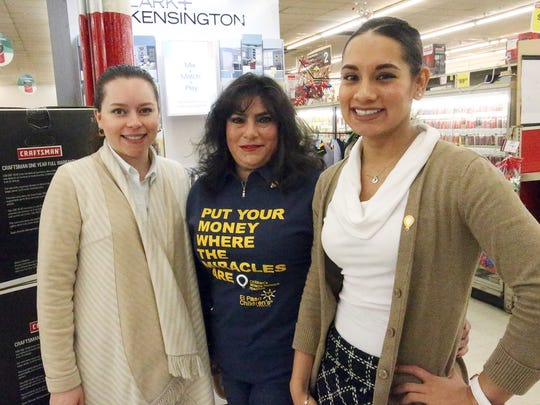 L-R: Melissa Santos, financial analyst for Food City, Rosa Tarango, human resources manager at Food City and Alexa Velazquez, program manager for Children's Miracle Network.