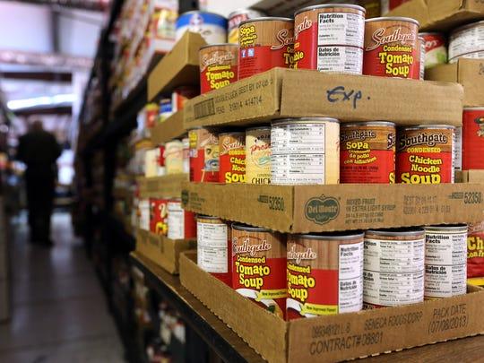 Canned soups are just a few of the commodities available at the Smyrna-La Vergne Food Bank.