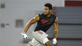 Ohio State cornerback Gareon Conley, shown at his Pro Day in March, could be the Eagles' first-round pick in the draft on Thursday.