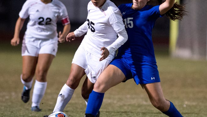 South Fork plays Martin County during the high school girls soccer game Thursday, Nov. 17, 2016, at South Fork High School in Tropical Farms.