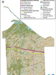 Easements for the Line 5 pipeline running through the