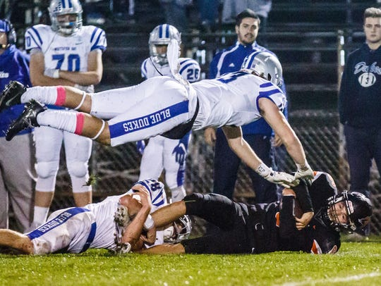 Whitefish Bay's Tommy Brunner (top) and Case Fleck