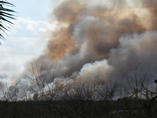 Controlled burn west of Melbourne