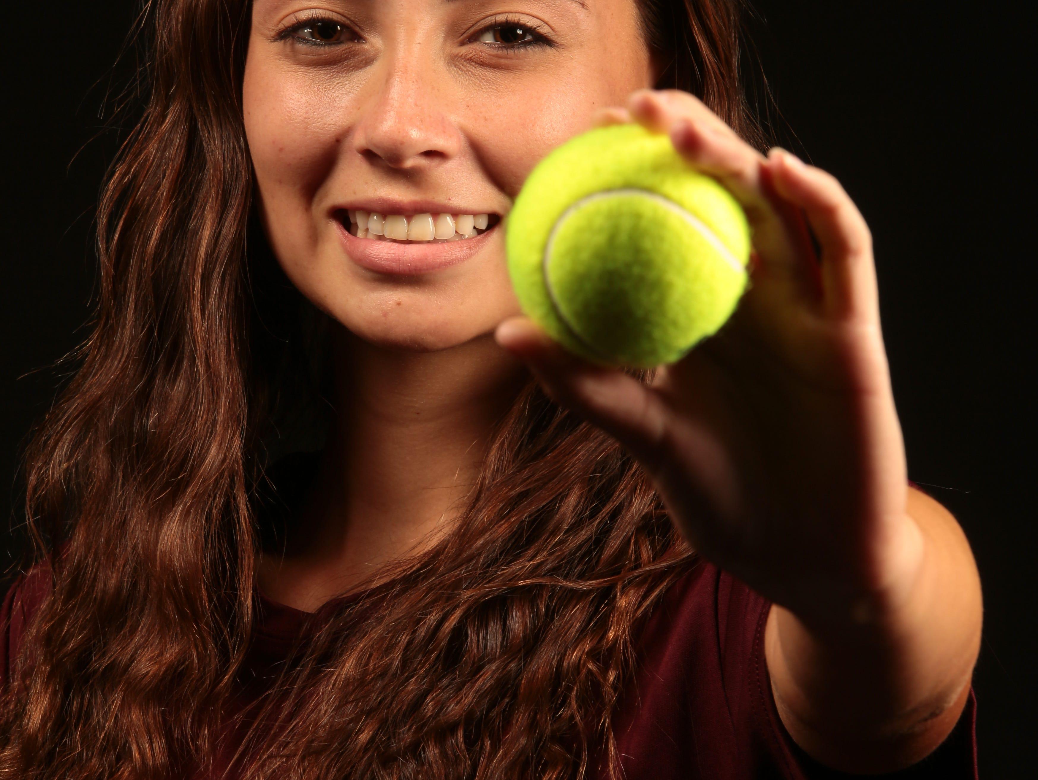 Tatiana Harvey, Rancho Mirage High tennis player on December 8, 2016 at the Desert Sun in Palm Springs.