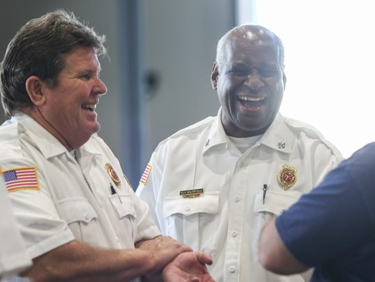 Clarksville Fire Rescue Deputy Chief Howell Albright,