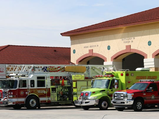 Rescue vehicles on display. On Monday, Aug. 28, 2017, Marco Island celebrated 20 years of being a city.
