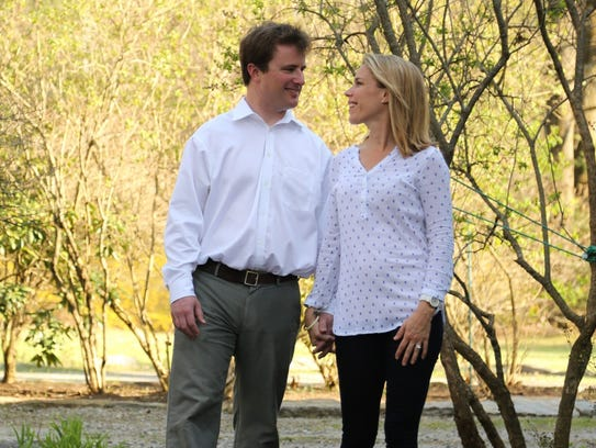 Allison Pataki with her husband, David Levy, who suffered