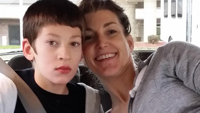 Jennifer McFadden and her son, Liam, who has a severe form of epilepsy.