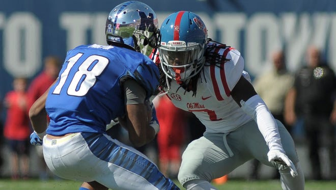 The Rebels' secondary, led by safety Trae Elston, hopes to continue its improvement against Auburn on Saturday.