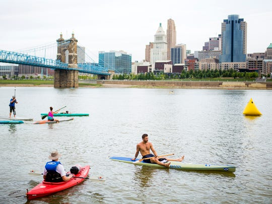 More than 2,000 people participate in Cincinnati's annual Paddlefest. It is the largest event of its kind in the US.