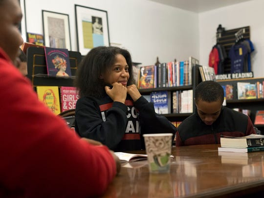 Rahmya Trewern, 15, is in a group of teens who are making their own positive recreational activity. They meet regularly at Pages Bookshop on Grand River for a book club.