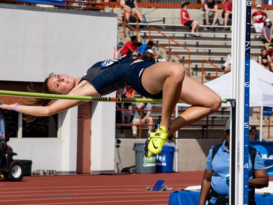 Nicole Wadden's best event in the high jump. She set