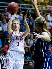 South's Kaitlyn Reyes (3), of Prattville Christian,