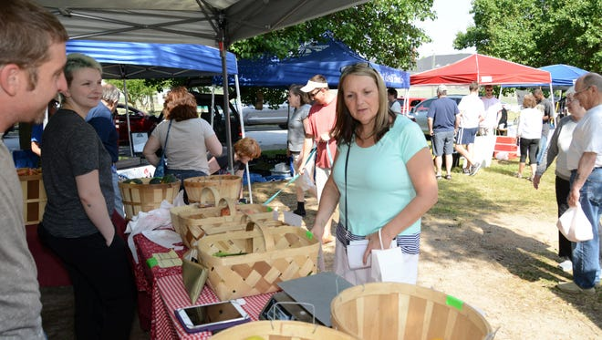 The Simpsonville Farmers Market began last week and continues through October.