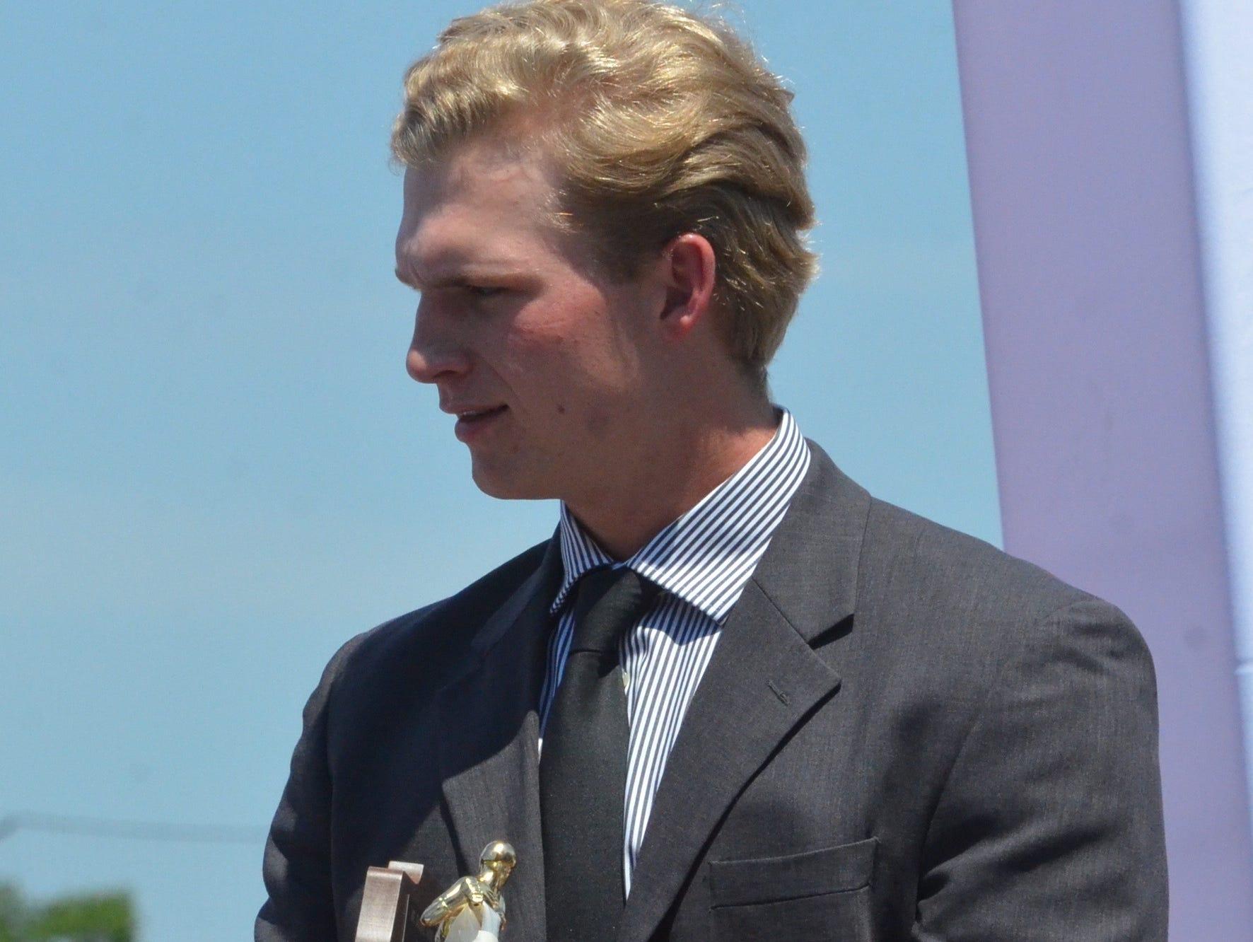 Forrest's Alex Brewer won the Mr. Baseball award for Class A.