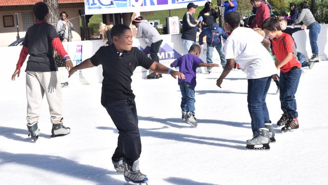The free ice skating rink attracted about 4,000 people at Alex Winter Fete, which was held Dec. 3-5 in downtown Alexandria.