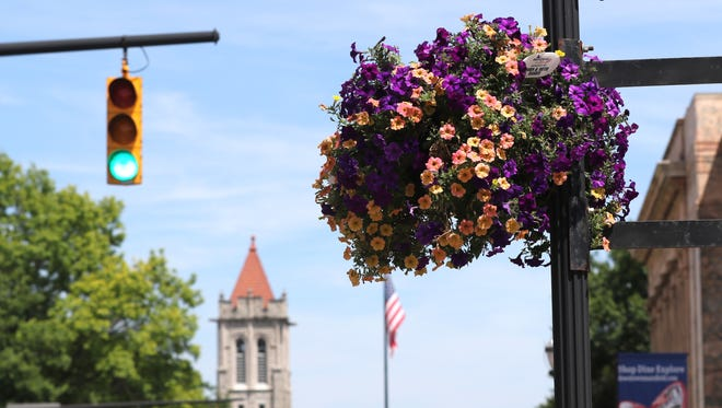 Flowers bloom around Mansfield in preparation of judging for America in Bloom that will be held later this week for the city.