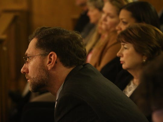 Photos from closing arguments and judge's instructions  in the Jacob Pearman's murder trial, on Monday, Jan. 17, 2015.