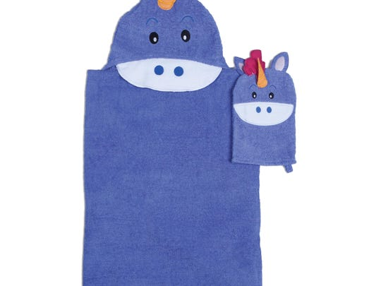 Unicorn hooded towel and wash mitt set, $21.99 online only at jcpenney.com.