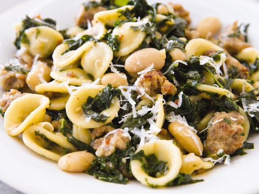 Food Column ATK Pasta with Sausage Kale and White Beans