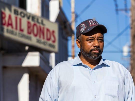 Robert Bovell, owner of Bovell Bail Bonds in Little Italy in Wilmington.