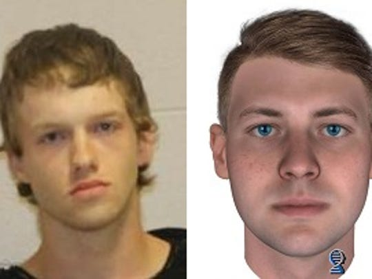 Ryan Derek Riggs, 21, left, and a composite profile