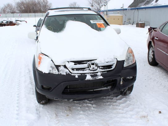 Dianne Moulton's 2002 Honda CR-V suffered minor damage