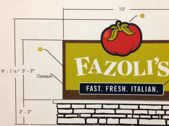 The BZA has approved a new Fazoli's sign that stands a foot taller than allowed by the zoning ordinance.