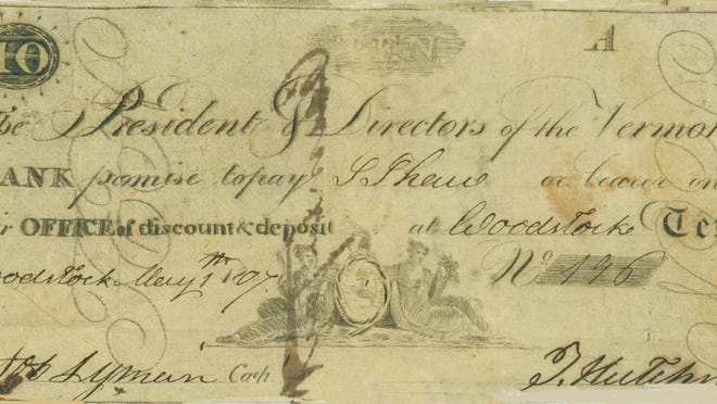 In 1808, Augustus Bartlett was found guilty of passing this counterfeit $10 bank bill.